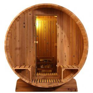 Barrel Sauna Knotty - Infra4Health