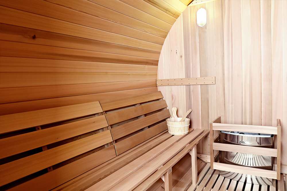 Infra4Health Barrel sauna detail