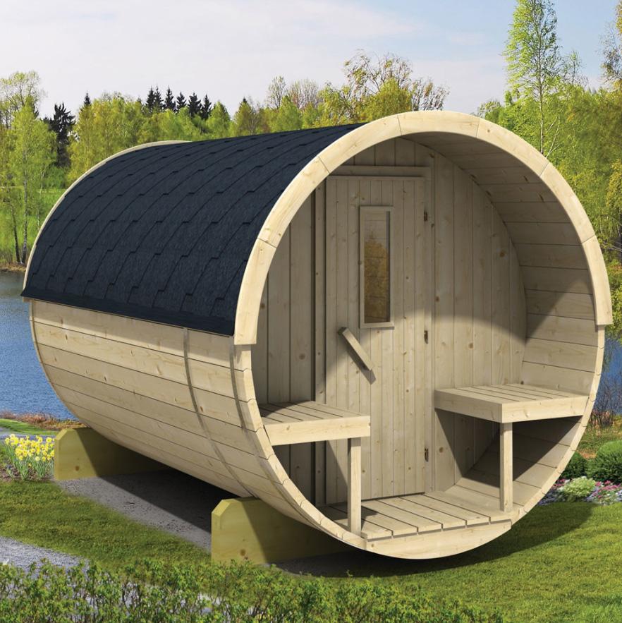 Barrel sauna 250 Vurenhout