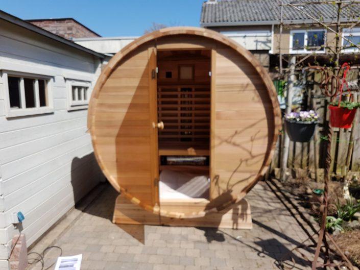 Infrarood barrel sauna Clear