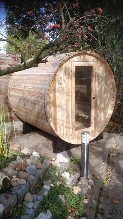 Barrel sauna in Hemlock hout uitvoering