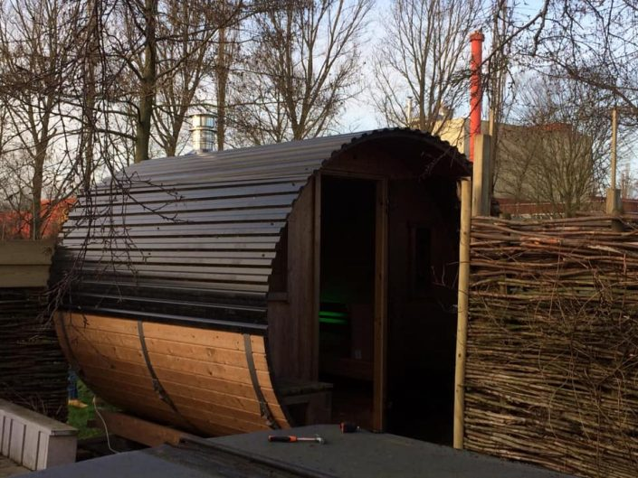 Barrel sauna in Bolsward, Friesland