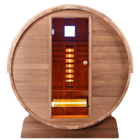 Barrel Sauna Infrarood Clear - Infra4Health
