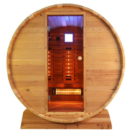 Barrel Sauna Infrarood Knotty - Infra4Health