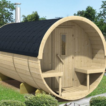 Barrel sauna 350 Vurenhout